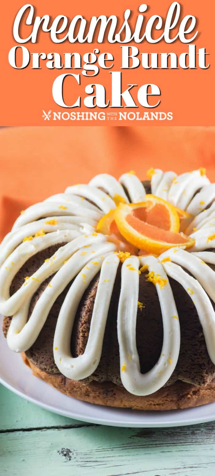 Creamsicle Orange Bundt Cake is the perfect cake for Mother's Day!! Bursting with orange flavor with a wonderful cream cheese frosting!! #creamsicle #bundt #cake #orange