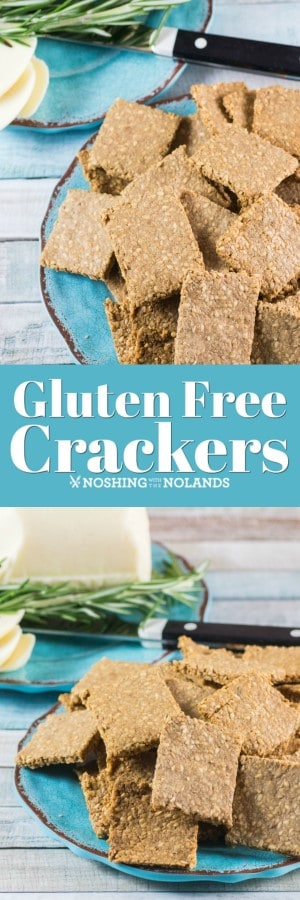 This Gluten Free Crackers Recipe will be a keeper as it is so easy to make and requires only four ingredients!! #glutenfree #crackers #sunflowerseeds #sesameseeds