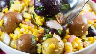 Little Potato Charred Corn Salad