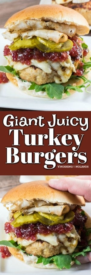 These Giant Juicy Turkey Burgers will be the hit of any backyard BBQ!! Made with the finest of Canadian ground turkey. #TurkeyOnTheGrill #turkeyburgers #bbq