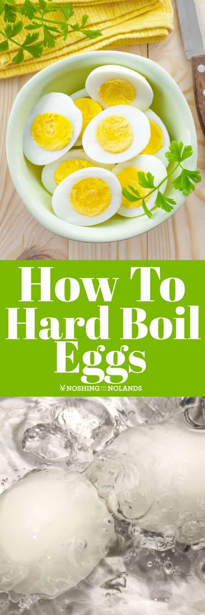 How to Hard Boil Eggs is simple and easy if you follow our tips and tricks to get that perfectly cooked yolk!! #hardboiledeggs #eggs