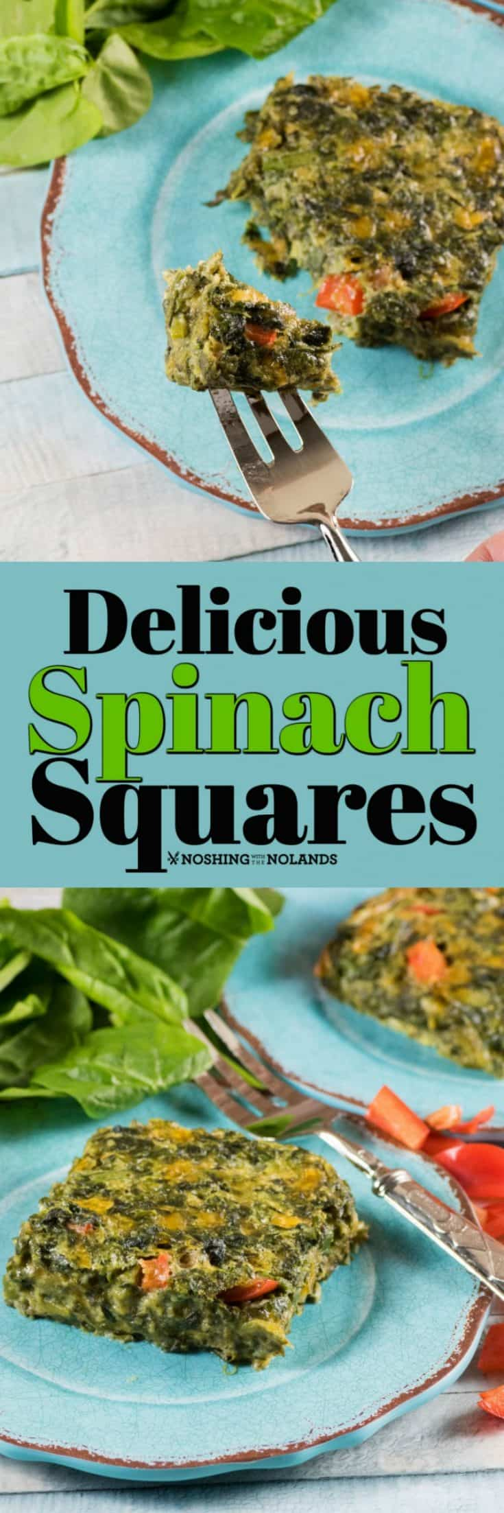 These Delicious Spinach Squares are equally as good as a side dish as they are as an appetizer. #spinachsquares #spinach #appetizer #sidedish