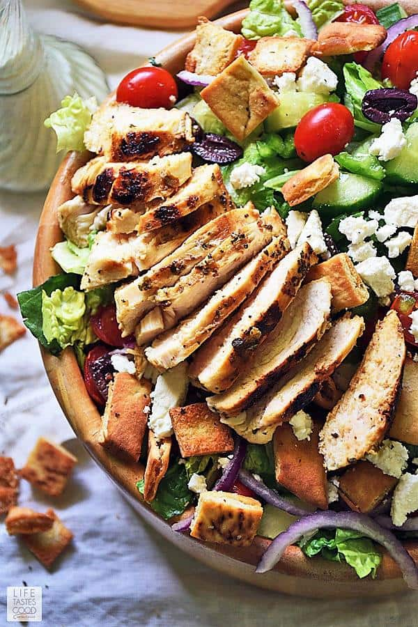 GYROS SALAD WITH CHICKEN