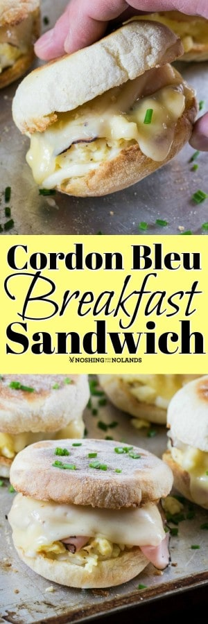 This Cordon Bleu Breakfast Sandwich is so easy to make and can be enjoyed from breakfast to dinner!! #EFA #eggs #breakfastsandwich #cordonbleu