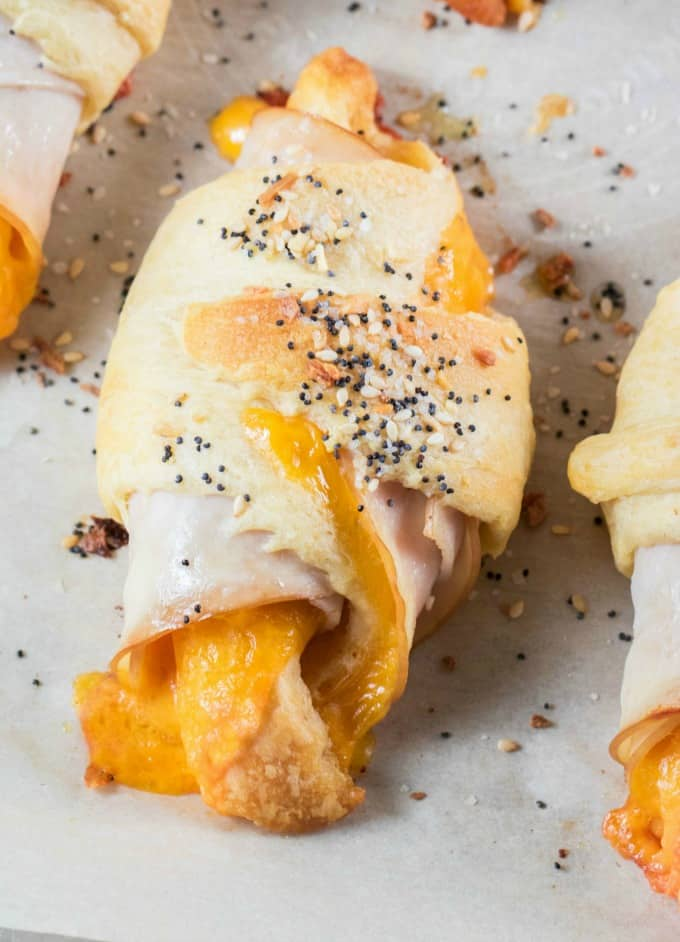 Everything Bagel Turkey Cheddar Crescent Roll