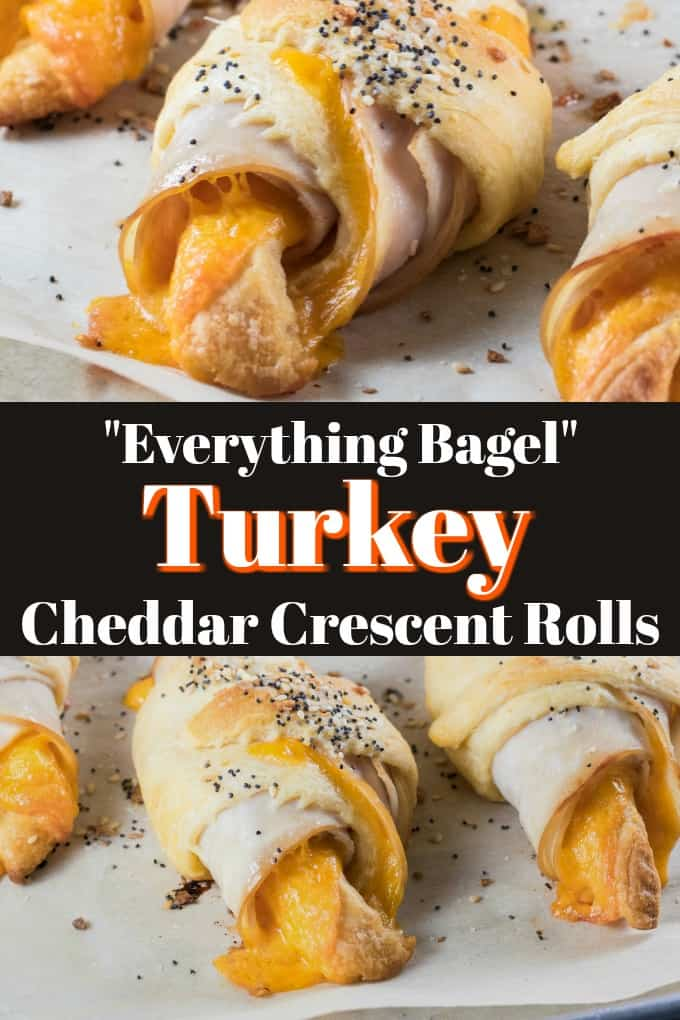 "Let me help you get back-to-school easily with these ""Everything Bagel"" Turkey Cheddar Crescent Rolls. They are great in a packed lunch or and easy dinner option!! #turkey #TurkeyMakesItEasy #crescentrolls"