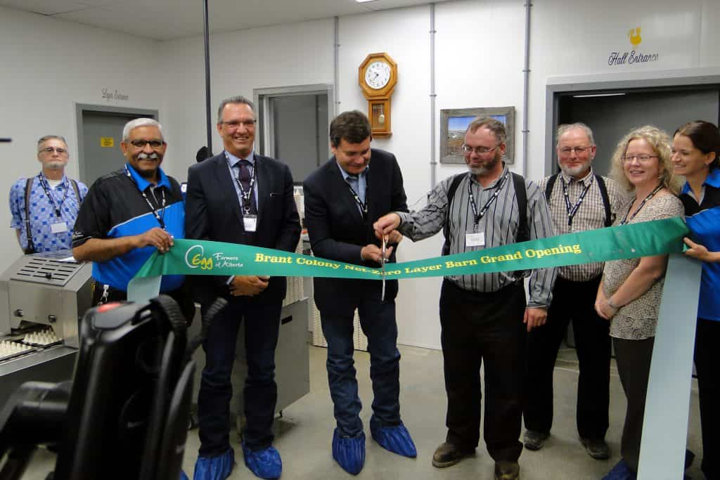 Brant Colony Celebrates Grand Opening of Net-Zero Layer Barn