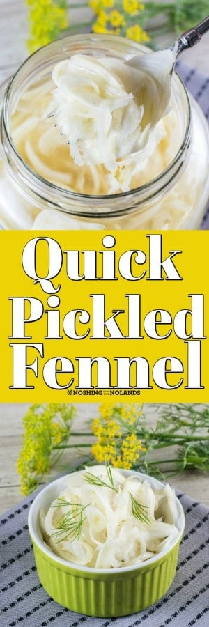 How to Quick Pickle Fennel is easy to learn and goes great on sandwiches, burgers, salads, seafood and more! #fennel #quickpickle