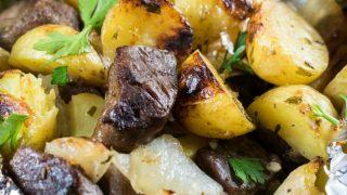 Steak and Little Potato Foil Packs