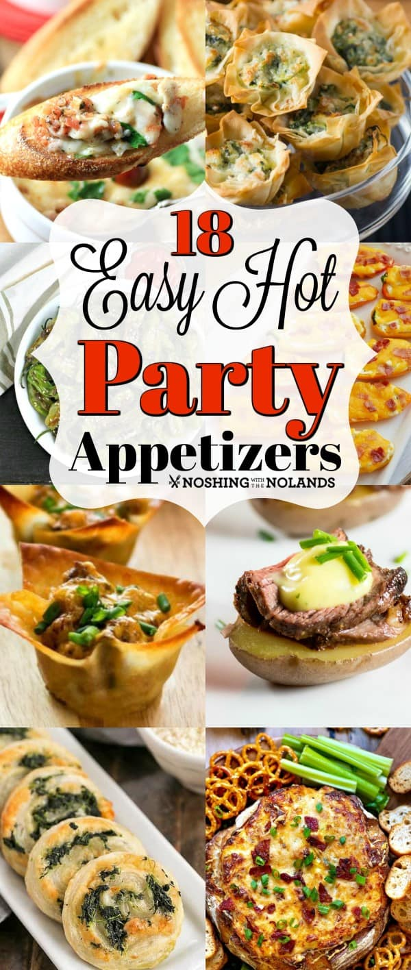 18 Easy Hot Party Appetizer Recipes are perfect for holiday entertaining!! #easy #hotappetizers #party #partyappetizers