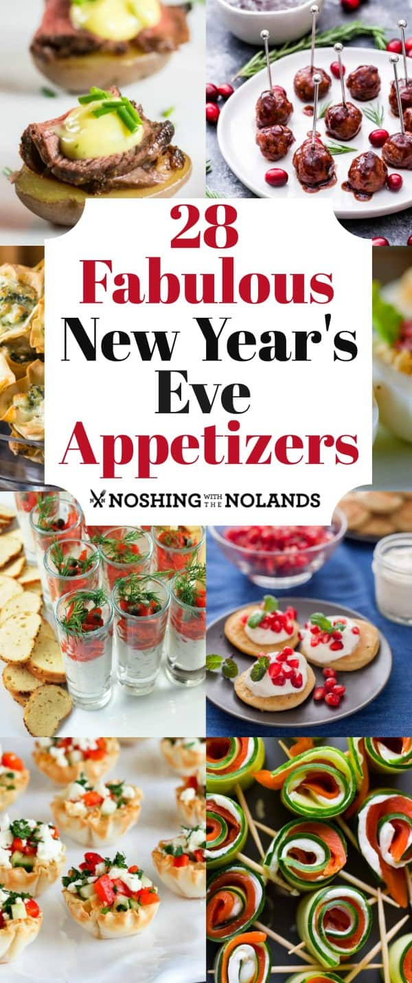 28 Fabulous New Year's Eve Appetizers will help you ring in the New Year in style!! #NewYearsEveappetizers #appetizers