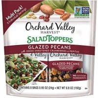 ORCHARD VALLEY HARVEST Salad Toppers, Glazed Pecans, Non-GMO, No Artificial Ingredients, 0.85 oz (Pack of 8)