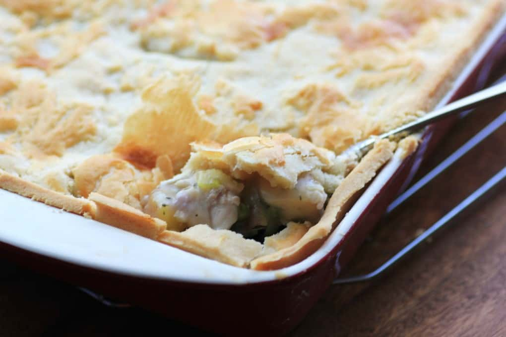 Dishing out Chicken Pot Pie