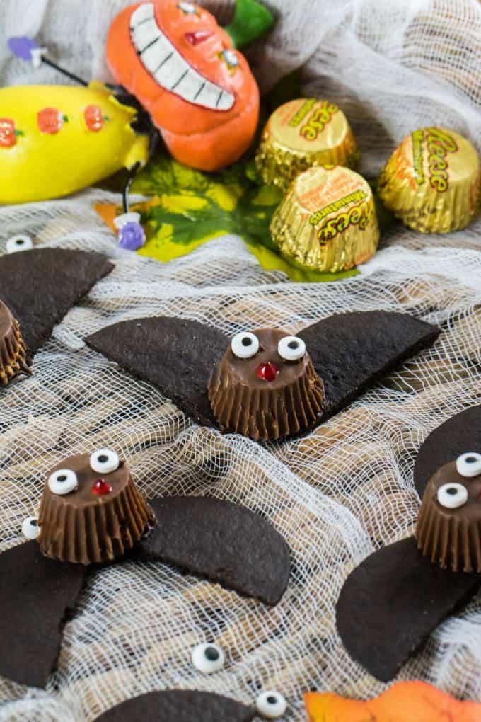 Close up of Halloween Bat Treats
