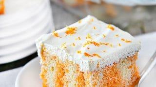 Orange Creamsicle Poke Cake