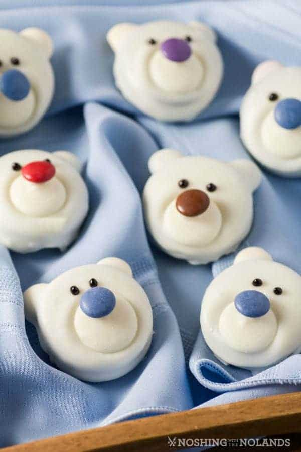 Christmas Desserts.Polar Bear Cookies