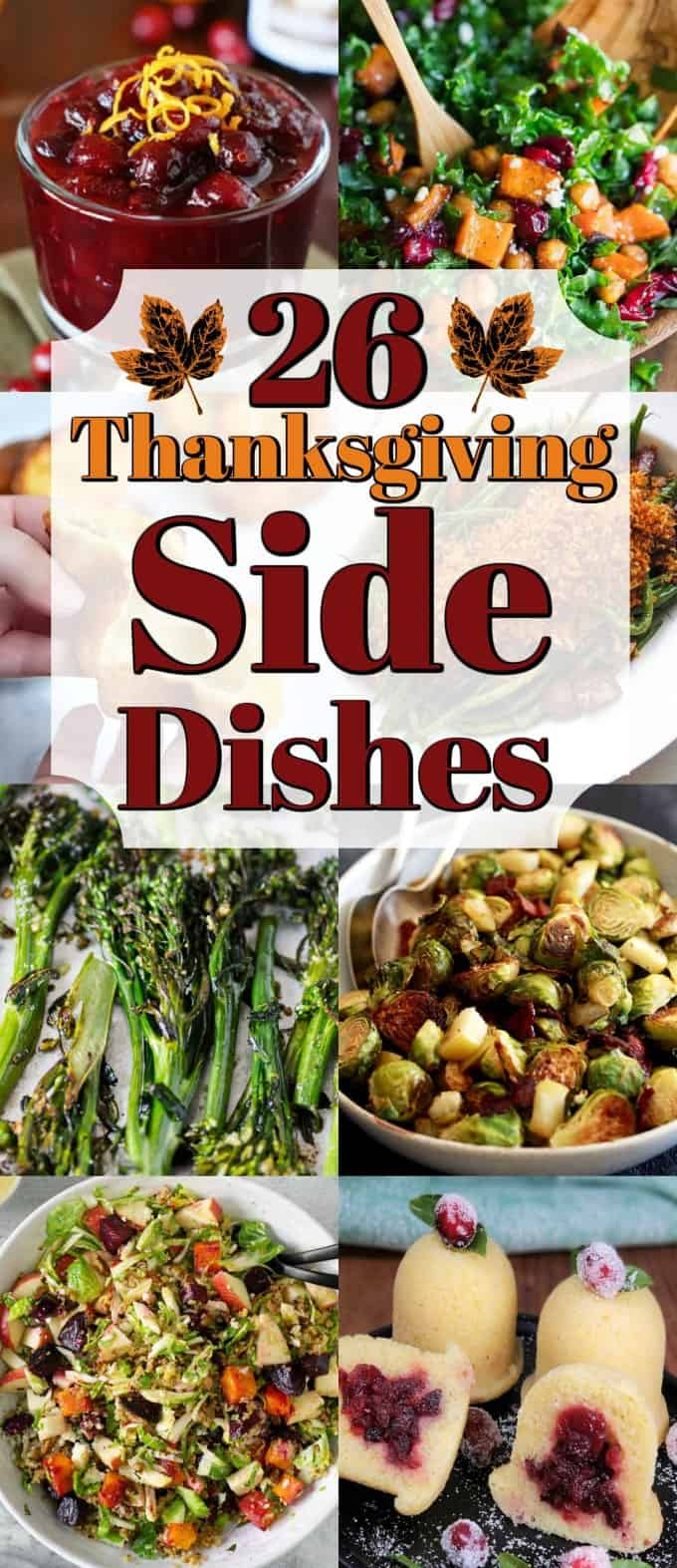 26 Thanksgiving Side Dishes for the holidays will amaze your family and friends!! #Thanksgiving #sidedishes #sides