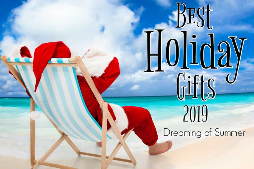 Santa in a chair on the beach for Best Holiday Gifts 2019