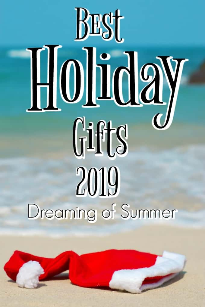 Best Holiday Gifts 2019 with a Santa hat on the beach