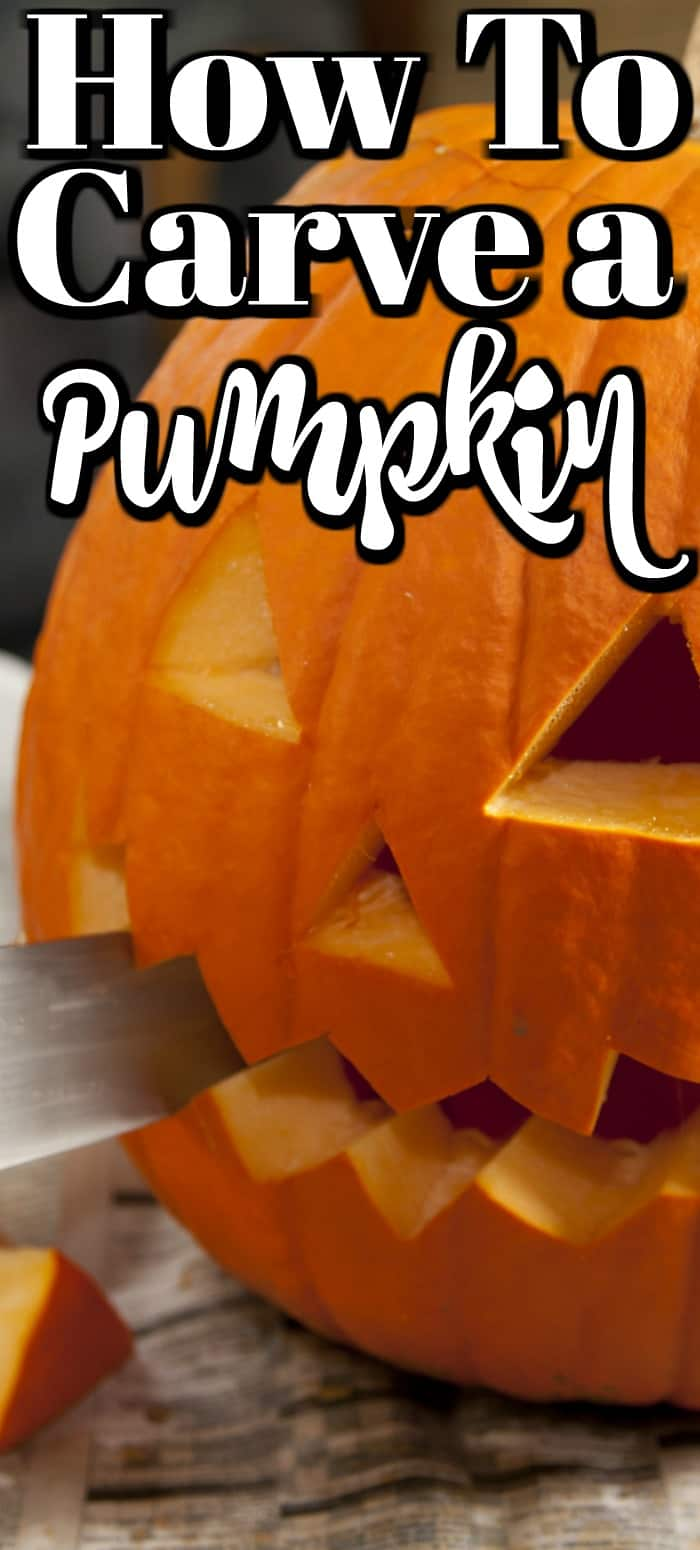 How to Carve a Pumpkin will help you with great tips and tricks that you may not have thought of!! #pumpkin #carving #Halloween
