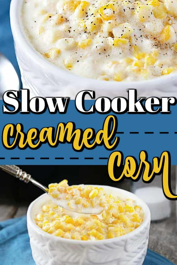 This Slow Cooker Creamed Corn recipe will become a new family favorite not only for Thanksgiving and the holidays but for anytime!! #creamedcorn #slowcooker #crockpot