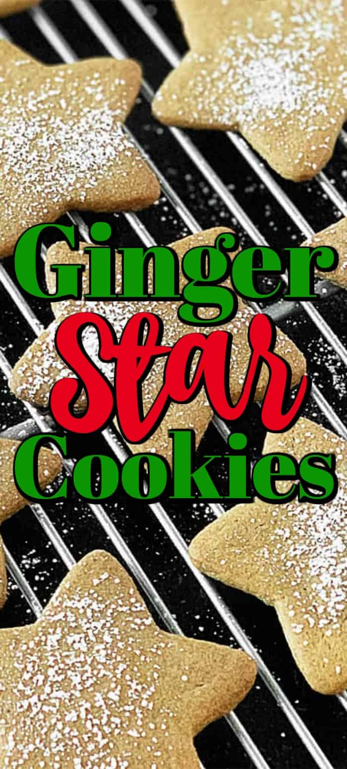 Ginger Star Cookies that remind you of the spice cookies Grandma used to make. Perfectly flavored, buttery and so good -- they don't need frosting. #spicecookies #starcookies #gingercookies