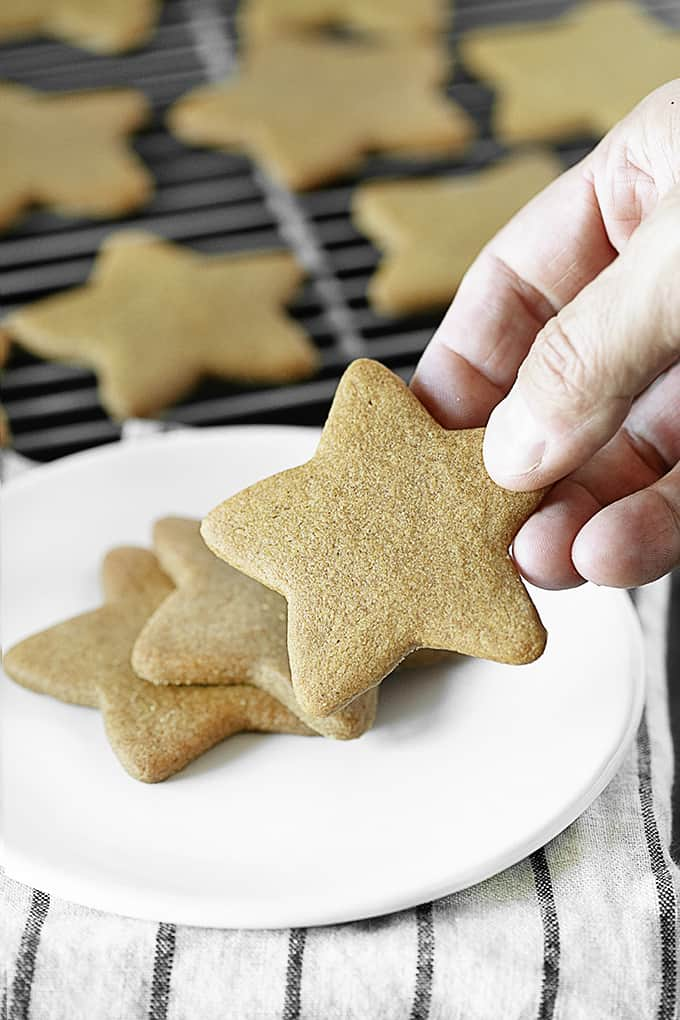 Hand Reaching for Star Cookie