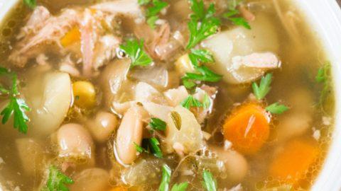 Ham Bone Soup (Slow Cooker)