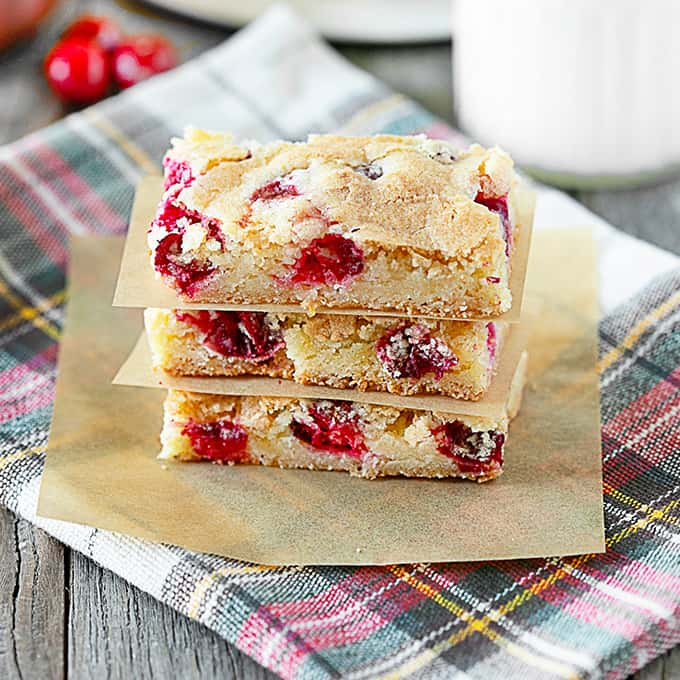Stacked Lemon Cranberry Bars