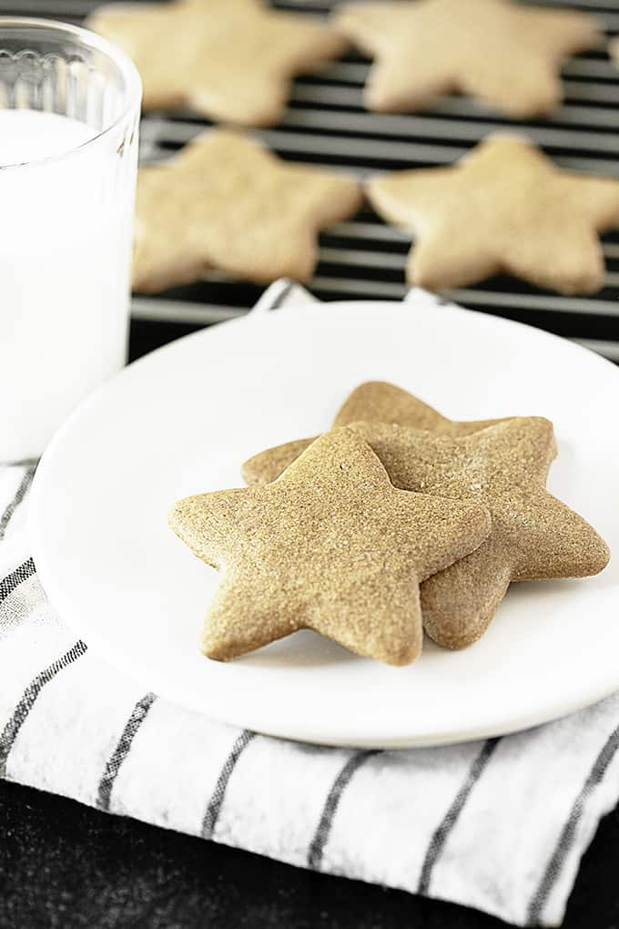 Ginger Star Cookies with milk