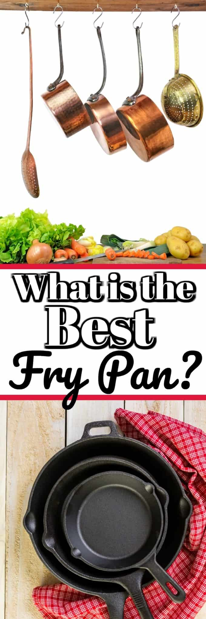 What is the Best Fry Pan? Cast Iron, stainless steel, copper or nonstick? Let us help you decide with this handy guide! #frypan #skillet