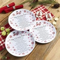 Melamine Giving Plates with Painted Snowmen Trim - Set of 3