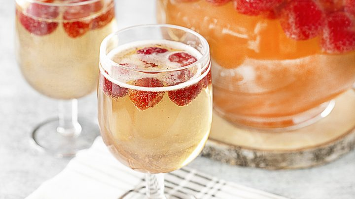 Strawberry Champagne Party Punch Recipe