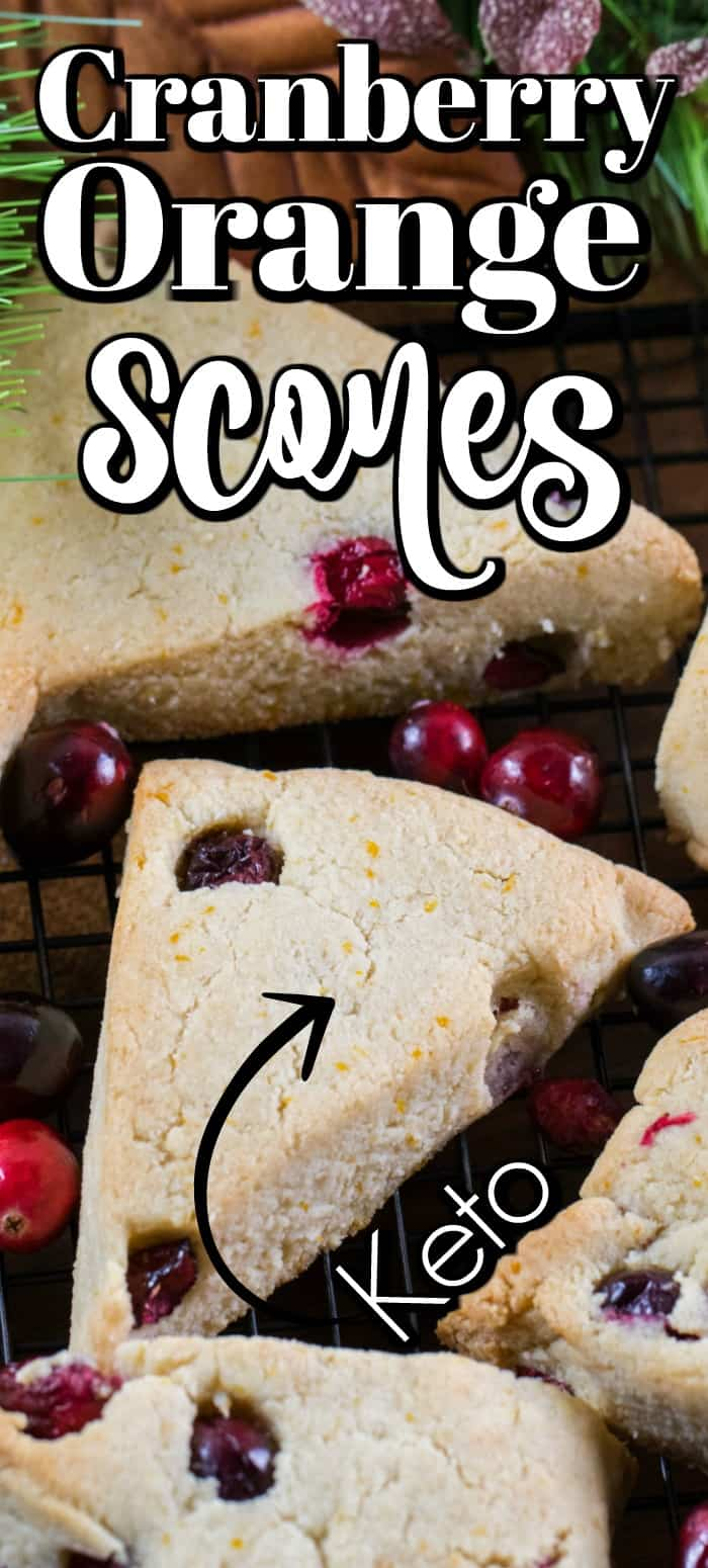 These Cranberry Orange Scones are a keto friendly recipe that is perfect for the holidays!! #cranberry #orange #scones #keto
