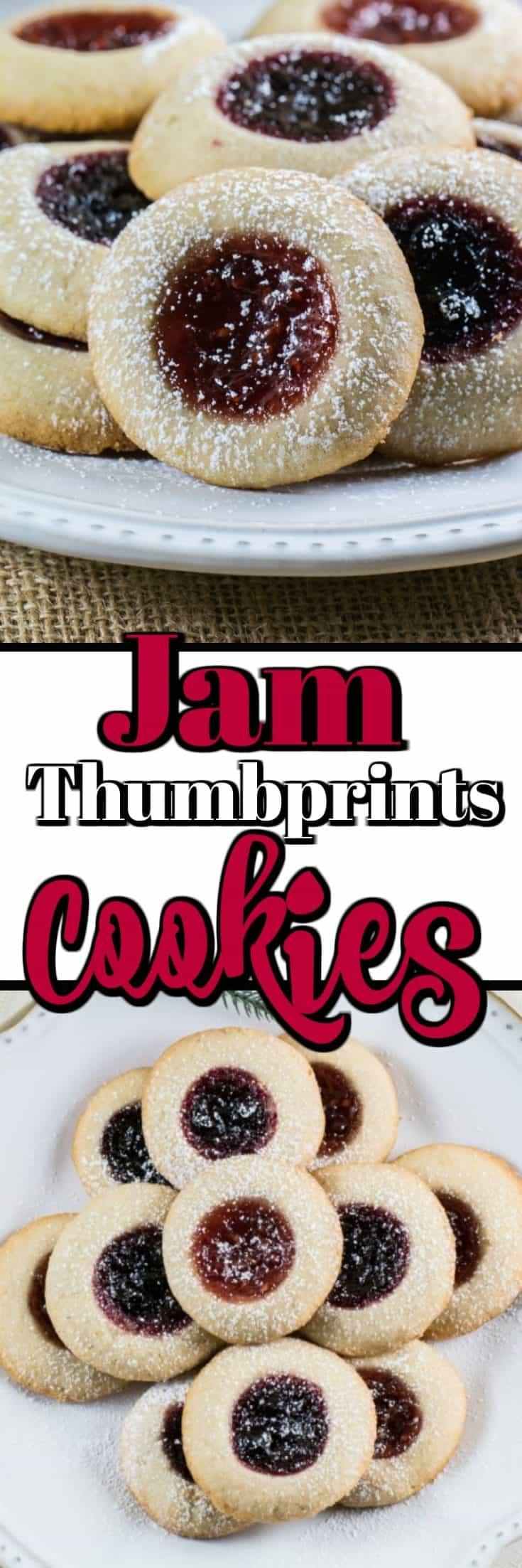 Lemon Raspberry Jam Thumbprint Cookies are the perfect buttery shortbread treat that everyone will love to indulge in over the holiday season and beyond!! #thumbprints #jam #cookies