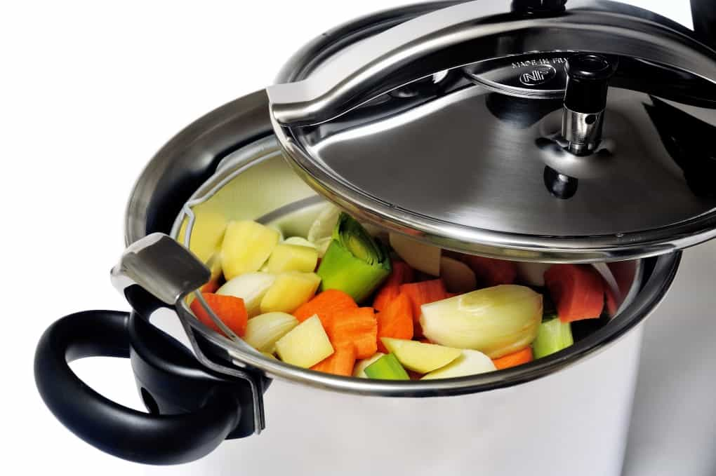 Pressure cooker stainless steel French-made for cooking food in steam