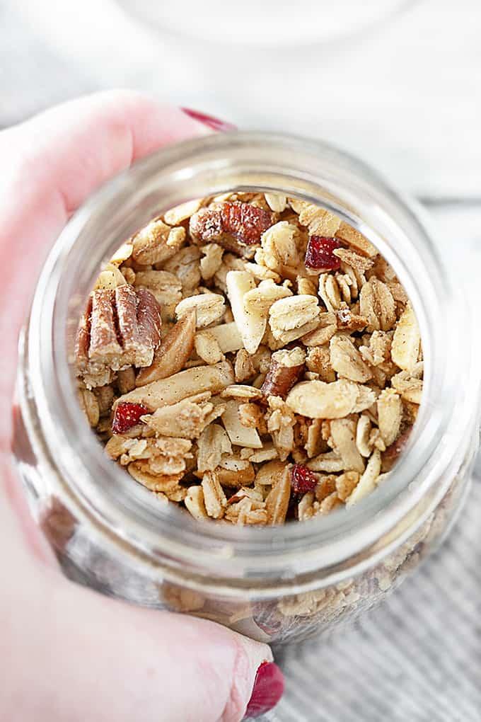 Homemade Granola in a Jar