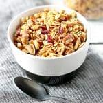 Delicious Bowl of Homemade Granola