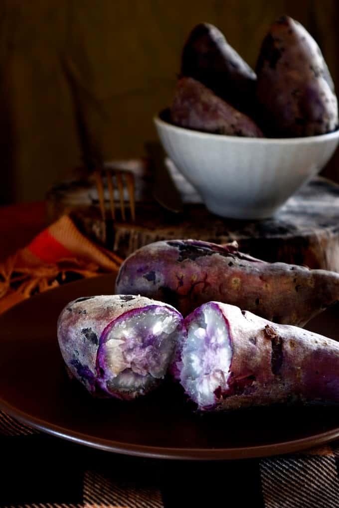 Photo of freshly cooked sweet potato