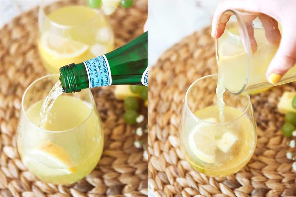 Preparing a White Grape and Pineapple Spritzer