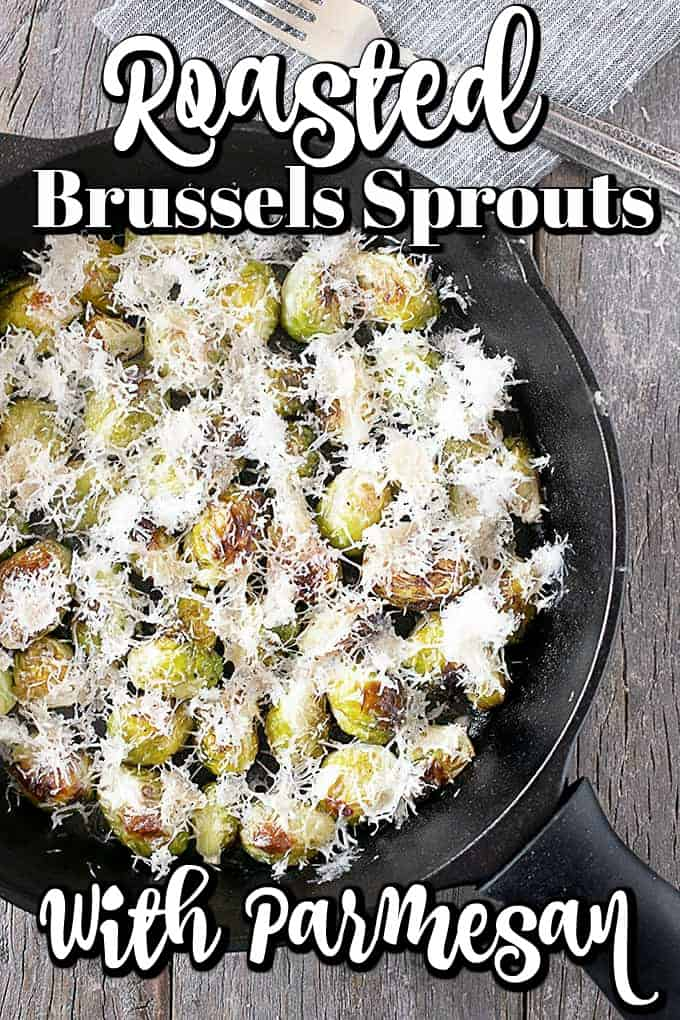 This Roasted Brussels Sprout Recipe with Parmesan is an easy side dish that will be perfect with so many meals!! #Brusselssprouts #sidedish #Parmesan