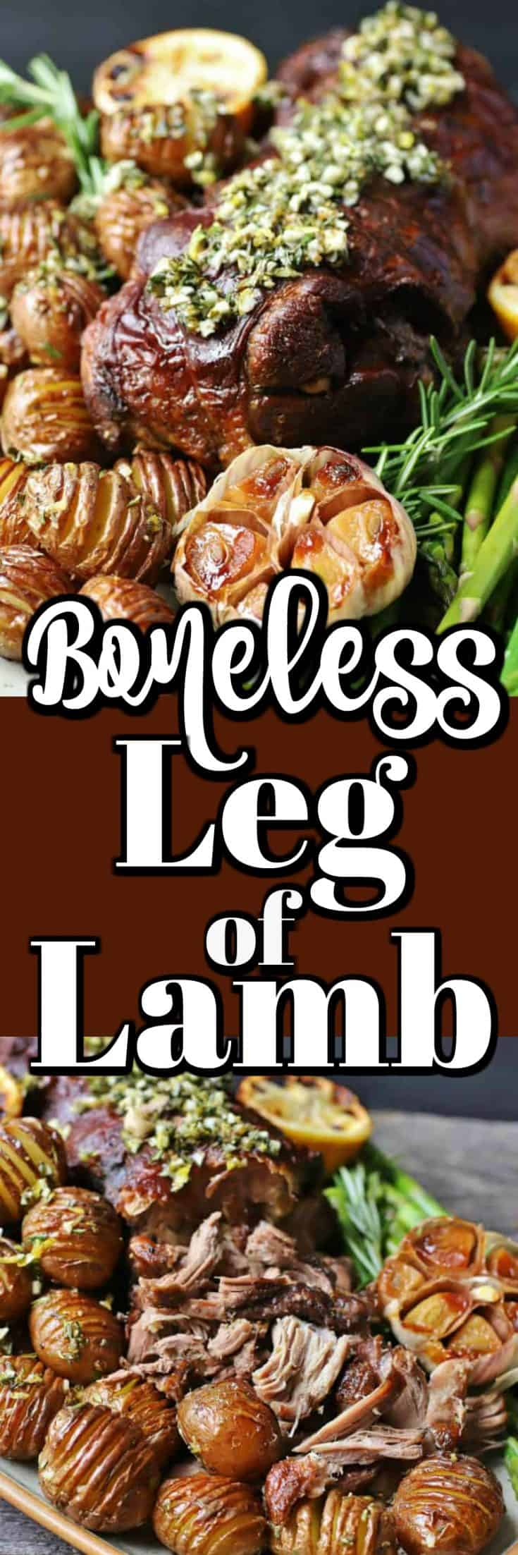 Slow Roasted Boneless Leg of Lamb can be your Easter dinner or just one of the best dinner recipes you have tried or made. #lamb #legoflamb #bonelesslamb