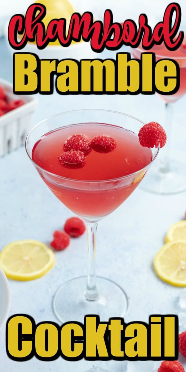 This gorgeous Chambord Bramble Cocktail is the quintessential spring libation. Such a great color and lively fresh flavors. #bramble #cocktail