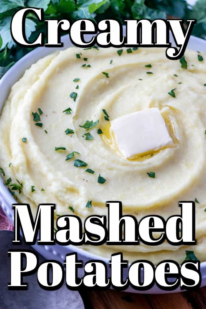 This Creamy Mashed Potato Recipe makes an excellent side dish that elevates the once lumpy potato to a new level!! Yukon Golds make a fabulous homemade mashed potato like restaurant quality dish. #mashedpotatoes #potatoes