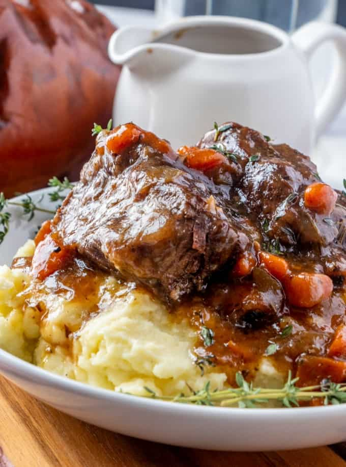 Close up of Braised Short Ribs