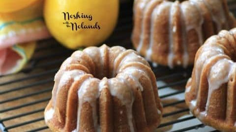 Mini Lemon Spring Bundts for #BundtBakers