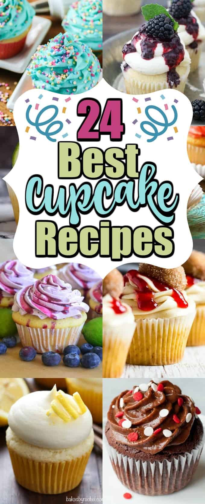 These 24 Best Cupcake Recipes are perfect for any celebration. We have lots of cupcakes topped with so many flavors it will be hard to choose!! #cupcakerecipes #cupcakes