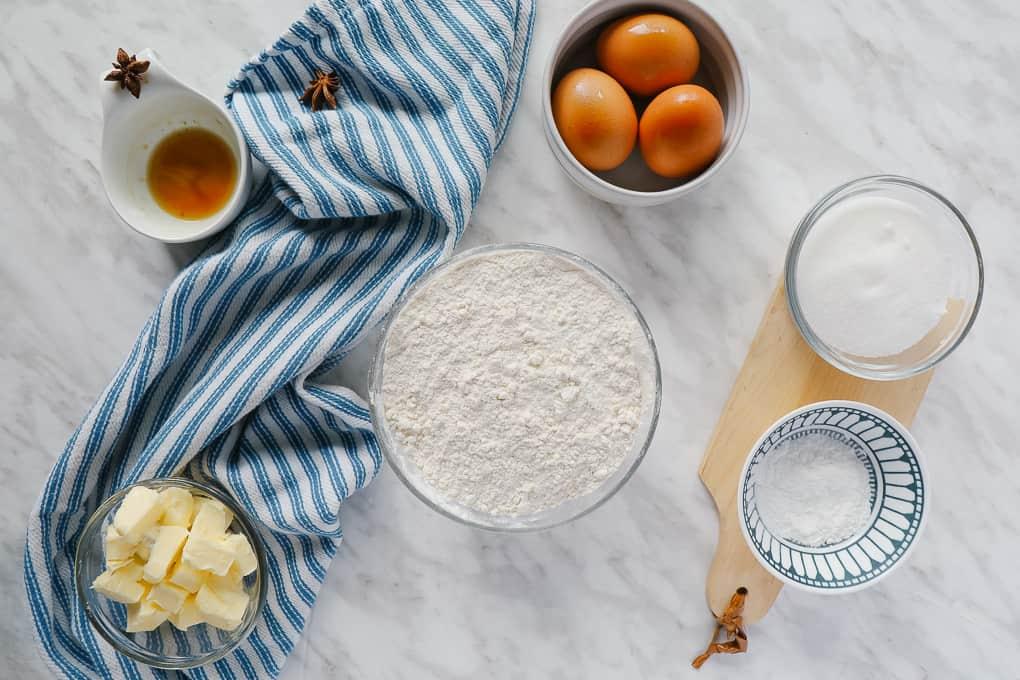 Ingredients for Italian Anise Cookies