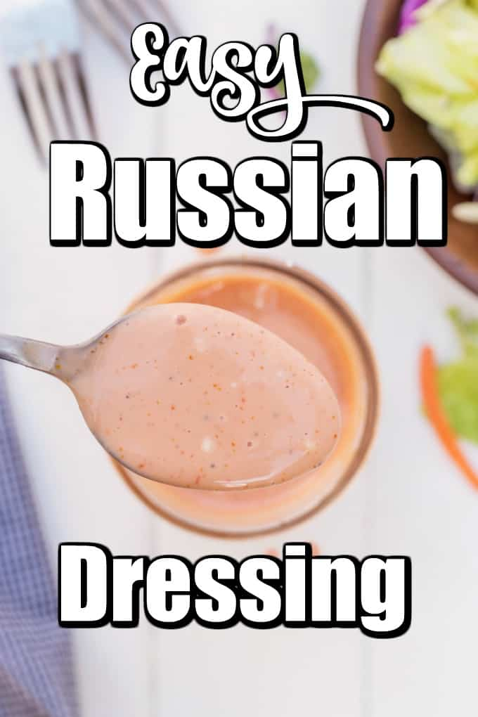 An Easy Russian Dressing like this livens up any salad or Reuben sandwich and is just the kick that is needed. #Russiandressing #saladdressing #Reubensandwich