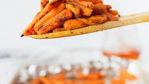 Honey Glazed Dijon Roasted Carrots